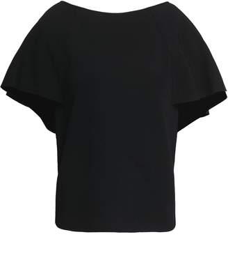 Valentino Cape-effect Woven Top