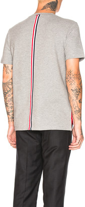 Thom Browne Backstripe Pique Shirt in Light Grey | FWRD
