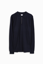 Sunspel Knitted Zip Polo Shirt