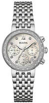 Bulova Chronograph Diamond Collection Stainless Steel Watch
