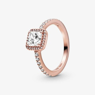 Pandora Rose Coloured Ring with Clear Cubic Zirconia