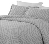 Natural Comfort Yue Home Textile Yarn-Dyed Cotton Duvet Cover Set, Gray, King