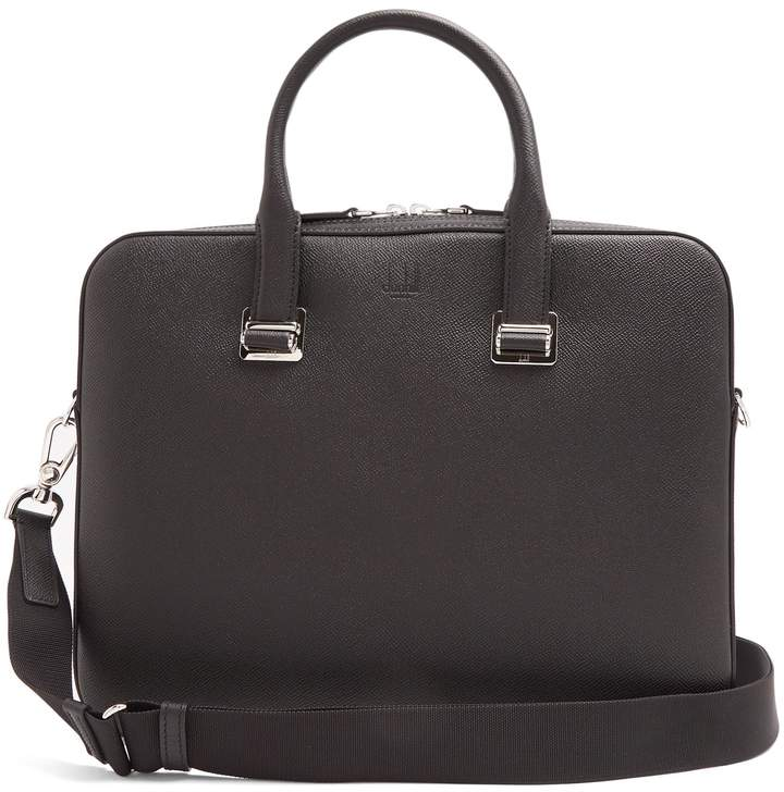 Dunhill Cadogan grained-leather briefcase