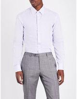 Armani Collezioni Slim-fit Striped Cotton Shirt