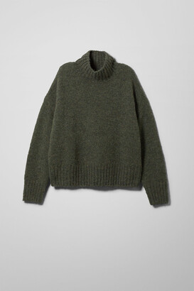 Weekday Claire Turtleneck - Green