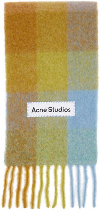 Acne Studios Multicolor Alpaca and Mohair Large Check Scarf