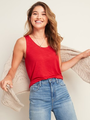 Old Navy Luxe Slub-Knit Jersey Tank Top for Women
