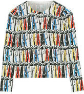 Alice + Olivia Stacey Montage Printed Cotton Cardigan