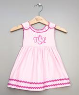 Princess Linens Pink & Fuchsia Monogram Jumper - Infant & Kids