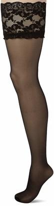 Ulla Popken Women's Halterloser Strumpf Hold-up Stockings 20 DEN