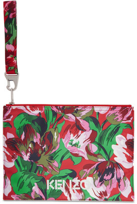 Kenzo Pink Vans Edition Floral Pouch