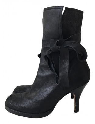 Nicole Farhi Black Leather Boots