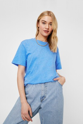 Nasty Gal Womens Face the Facts Relaxed Tee - Orange - S