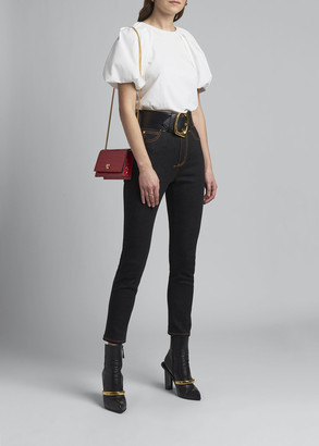 Alexander McQueen Contrast-Stitch Skinny Ankle Jeans