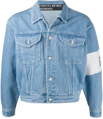 Enfants Riches Deprimes Embroidered Logo Denim Jacket