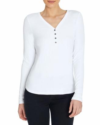 Three Dots Women's Long Sleeve Henley Top