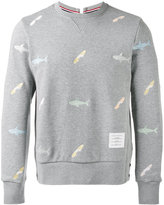 Thom Browne shark print sweatshirt - men - Cotton/Nylon/Polyurethane/Cupro - 1
