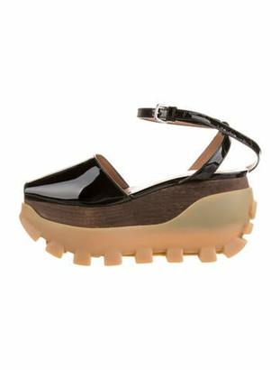 Marni Patent Leather Sandals Black