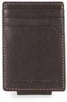 Black Brown 1826 Leather Credit Card Case