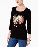 Karen Scott Cotton Graphic-Print T-Shirt, Created for Macy's