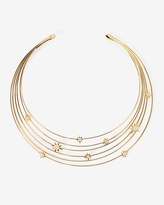 White House Black Market Goldtone Celestial Collar Necklace