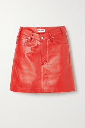 Balenciaga Textured-leather Mini Skirt - FR34