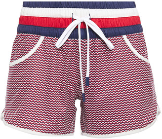 Perfect Moment Printed Stretch-jersey Shorts