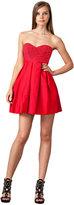 JILL JILL STUART Strapless Red Mini Dress