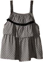Ikks Printed Top with Adjustable Embroidered Straps (Little Kids/Big Kids)