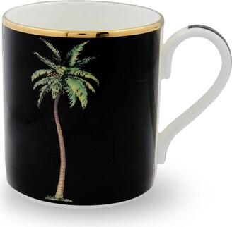 Halcyon Days Bone China Palm Mug