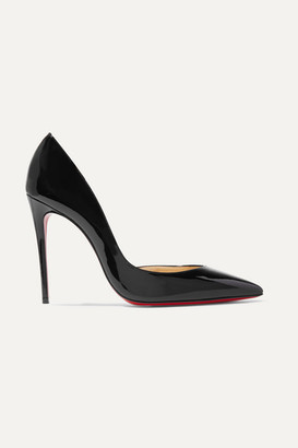 Christian Louboutin Iriza 100 Patent-leather Pumps - Black