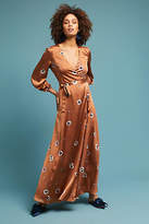 Astr Printed Wrap Maxi Dress