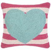 Dormify Peking Handicraft Stripe Heart Pillow