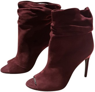 Burberry Burgundy Suede Ankle boots