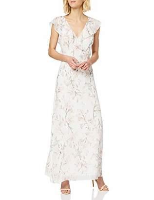 Warehouse Women's Frill Wrap Button Back Maxi Dress Bridesmaid