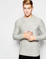 Jack & Jones Boucle Knit Jumper - Grey