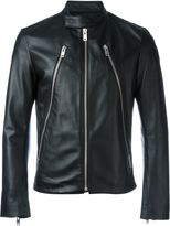 Maison Margiela stylised biker jacket - men - Cotton/Calf Leather/Viscose - 54