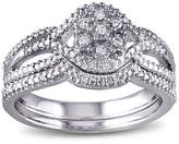Modern Bride 1/7 CT. T.W. Diamond Sterling Silver Bridal Ring Set No Color Family