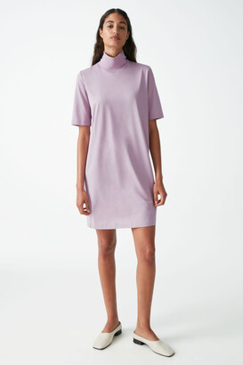 Cos Cotton Roll-Neck T-Shirt Dress