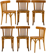 Rejuvenation Set of 6 Polish Bentwood Dining Chairs