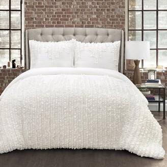 Essential Living 3 Piece Ruffle Stripe Comforter Set