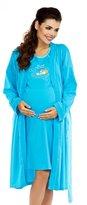 Zeta Ville Fashion Zeta Ville Maternity - Womens Nursing Nightdress Robe Set Labour Hospital 384c