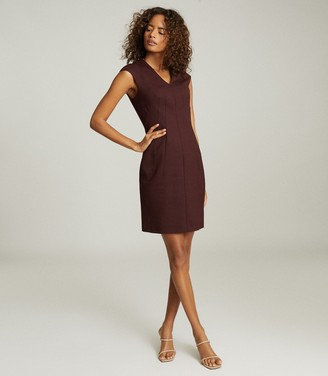 Reiss FREYA TAILORED DRESS Berry