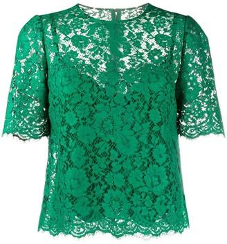 Dolce & Gabbana Floral Lace Blouse