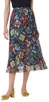 LK Bennett L.K.Bennett Phia Floral Midi Silk Skirt, Multi