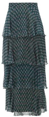 Beulah Kashish Tiered Floral-print Midi Skirt - Green Multi