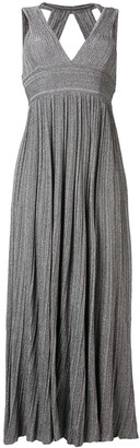 Valenti Antonino v-neck knitted long dress