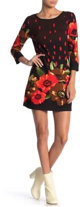 Papillon Scoop 3/4 Length Sleeve Sweater Dress