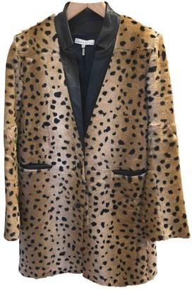 Sandro Beige Shearling Coat for Women