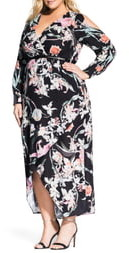City Chic Midnight Floral Maxi Dress